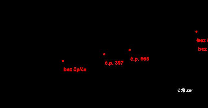 Rožnov pod Radhoštěm 397 na parcele st. 896/3 v KÚ Rožnov pod Radhoštěm, Katastrální mapa