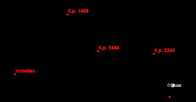 Zábřeh 1444 na parcele st. 1344 v KÚ Zábřeh na Moravě, Katastrální mapa