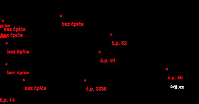 Boskovice 51 na parcele st. 35 v KÚ Boskovice, Katastrální mapa