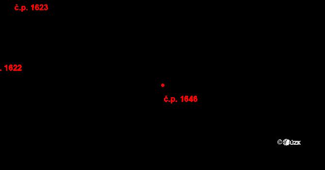 Benešov 1646 na parcele st. 1430/3 v KÚ Benešov u Prahy, Katastrální mapa