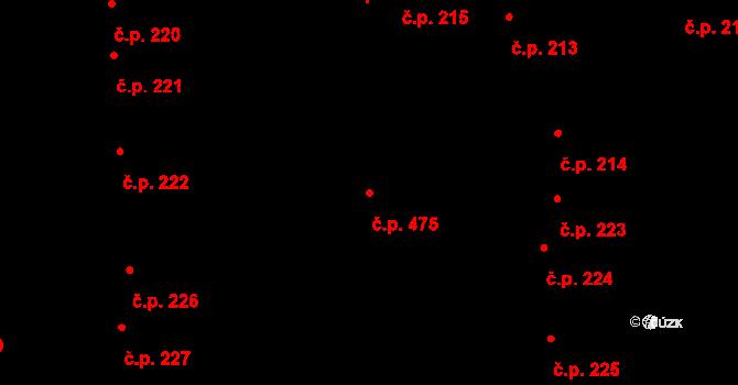 České Budějovice 1 475, České Budějovice na parcele st. 281 v KÚ České Budějovice 1, Katastrální mapa