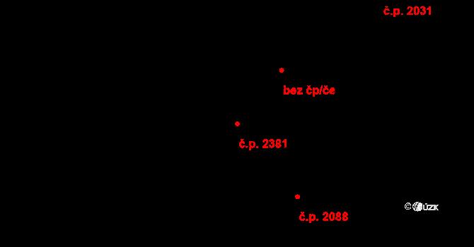 Poruba 2381, Ostrava, Katastrální mapa