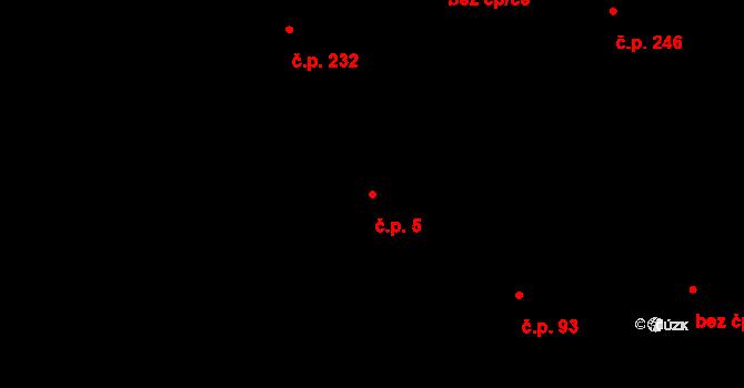 Lužná 5 na parcele st. 426 v KÚ Lužná u Vsetína, Katastrální mapa