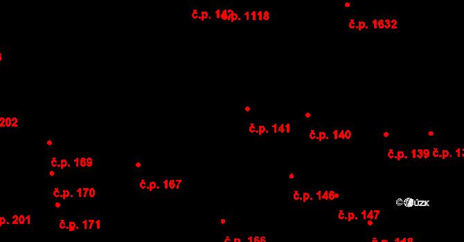 Šlapanice 141 na parcele st. 665/1 v KÚ Šlapanice u Brna, Katastrální mapa