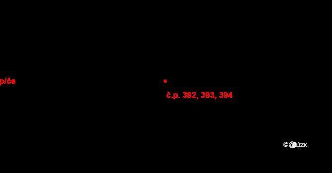 Písnice 392,393,394, Praha na parcele st. 910/36 v KÚ Písnice, Katastrální mapa