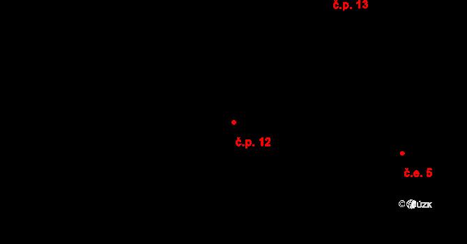 Stránka 12 na parcele st. 17/1 v KÚ Stránka u Mšena, Katastrální mapa