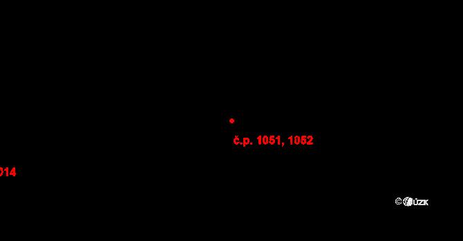 Bubeneč 1051,1052, Praha na parcele st. 1684 v KÚ Bubeneč, Katastrální mapa