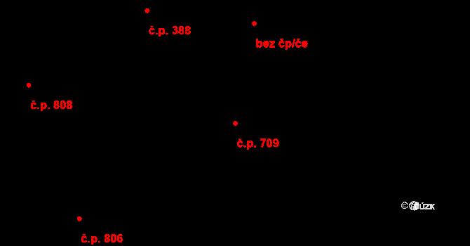 Vítkovice 709, Ostrava na parcele st. 718/6 v KÚ Vítkovice, Katastrální mapa