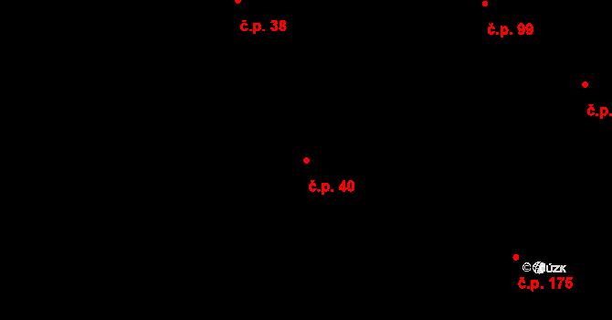 Závada 40 na parcele st. 177 v KÚ Závada u Hlučína, Katastrální mapa