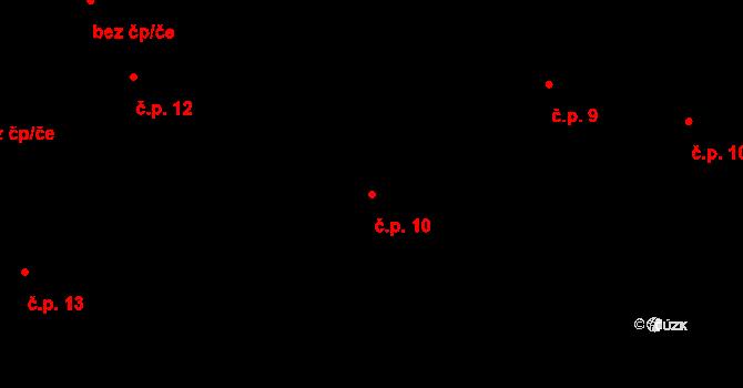 Bratronice 10 na parcele st. 88/2 v KÚ Bratronice u Kladna, Katastrální mapa