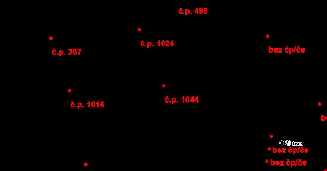 Stará Role 1044, Karlovy Vary na parcele st. 3391 v KÚ Stará Role, Katastrální mapa