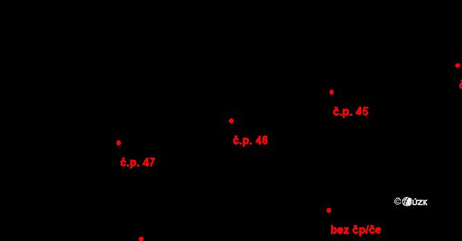 Lety 46 na parcele st. 1393 v KÚ Lety u Dobřichovic, Katastrální mapa