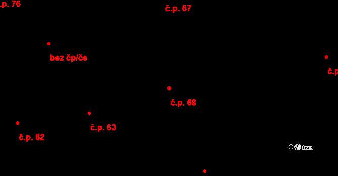 Josefov 68, Praha na parcele st. 9 v KÚ Josefov, Katastrální mapa