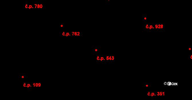 Liberec XIV-Ruprechtice 543, Liberec na parcele st. 2010 v KÚ Ruprechtice, Katastrální mapa