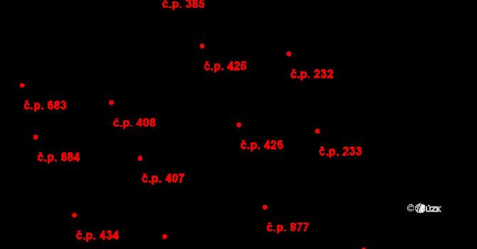 Kladno 426 na parcele st. 6475/1 v KÚ Kladno, Katastrální mapa