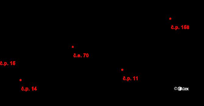 Moravice 70 na parcele st. 113/1 v KÚ Moravice, Katastrální mapa