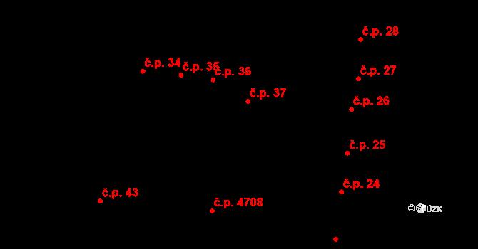 Jihlava 37 na parcele st. 68 v KÚ Jihlava, Katastrální mapa