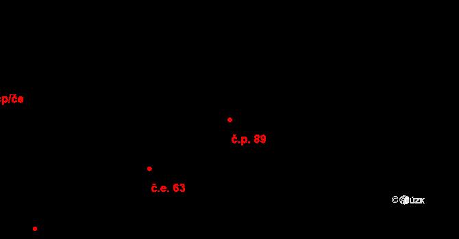 Řež 89, Husinec na parcele st. 192 v KÚ Husinec u Řeže, Katastrální mapa