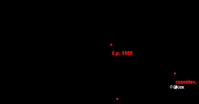 Krč 1565, Praha na parcele st. 1352/2 v KÚ Krč, Katastrální mapa