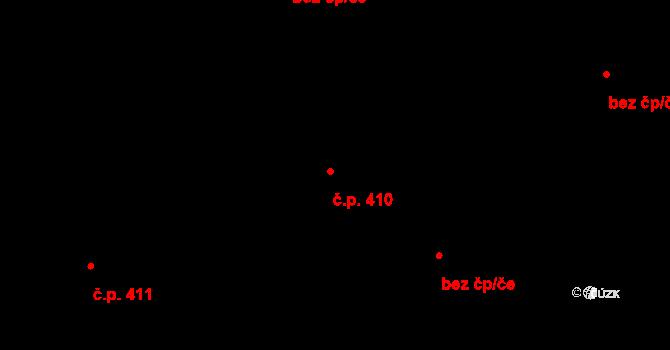 Nemošice 410, Pardubice na parcele st. 603 v KÚ Nemošice, Katastrální mapa