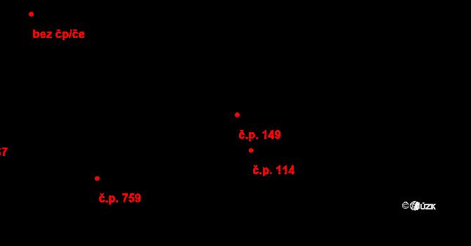 Blovice 149 na parcele st. 1/1 v KÚ Blovice, Katastrální mapa