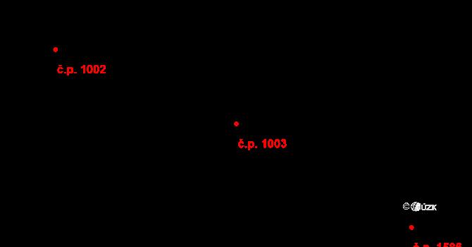 Nové Město 1003, Praha na parcele st. 517 v KÚ Nové Město, Katastrální mapa