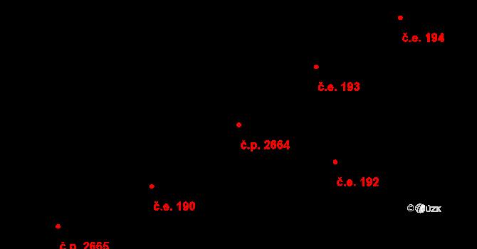 Rožnov pod Radhoštěm 2664 na parcele st. 1460 v KÚ Rožnov pod Radhoštěm, Katastrální mapa