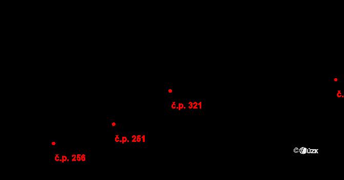 Jaroslavice 321, Zlín na parcele st. 371/2 v KÚ Jaroslavice u Zlína, Katastrální mapa