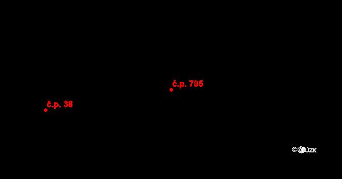 Nová Bělá 705, Ostrava na parcele st. 451/31 v KÚ Nová Bělá, Katastrální mapa