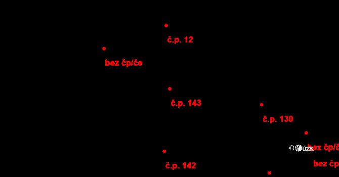 Vrchoslavice 143 na parcele st. 402 v KÚ Vrchoslavice, Katastrální mapa
