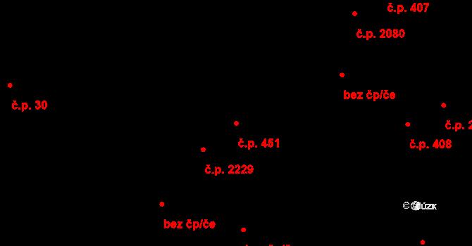 Kročehlavy 451, Kladno na parcele st. 1057 v KÚ Kročehlavy, Katastrální mapa