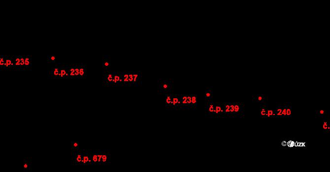 Břevnov 238, Praha na parcele st. 1890/1 v KÚ Břevnov, Katastrální mapa