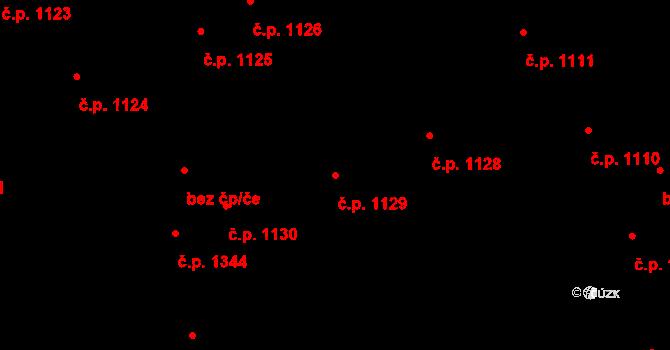 Vršovice 1129, Praha na parcele st. 2310 v KÚ Vršovice, Katastrální mapa