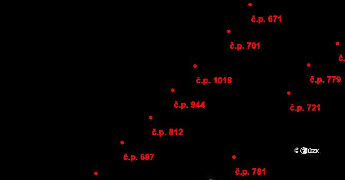 Ostrožská Nová Ves 944 na parcele st. 618/3 v KÚ Ostrožská Nová Ves, Katastrální mapa