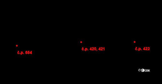 Horní Těrlicko 420,421, Těrlicko na parcele st. 1120 v KÚ Horní Těrlicko, Katastrální mapa