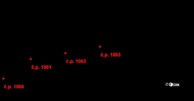 Krč 1063, Praha na parcele st. 1255/32 v KÚ Krč, Katastrální mapa