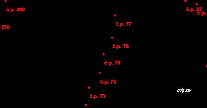 Hradec Králové 75 na parcele st. 103 v KÚ Hradec Králové, Katastrální mapa