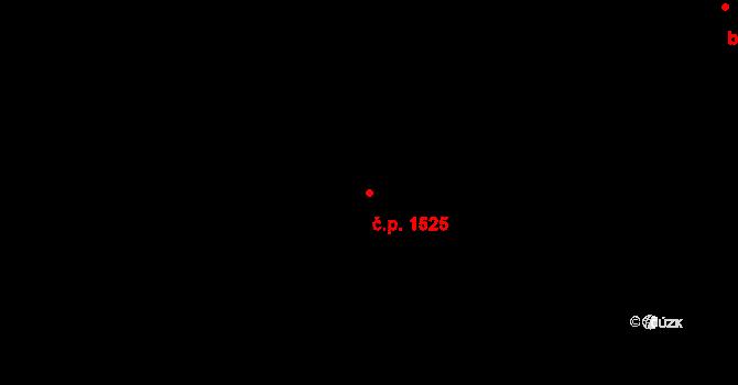 Vršovice 1525, Praha na parcele st. 1037/45 v KÚ Vršovice, Katastrální mapa