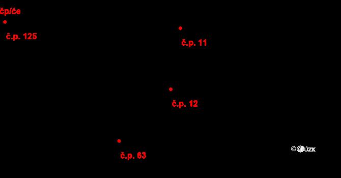 Kojčice 12 na parcele st. 19/2 v KÚ Kojčice, Katastrální mapa