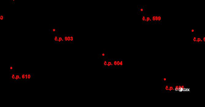Mikovice 604, Kralupy nad Vltavou na parcele st. 1445 v KÚ Mikovice u Kralup nad Vltavou, Katastrální mapa