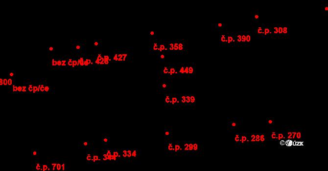 Švermov 339, Kladno na parcele st. 1450 v KÚ Motyčín, Katastrální mapa