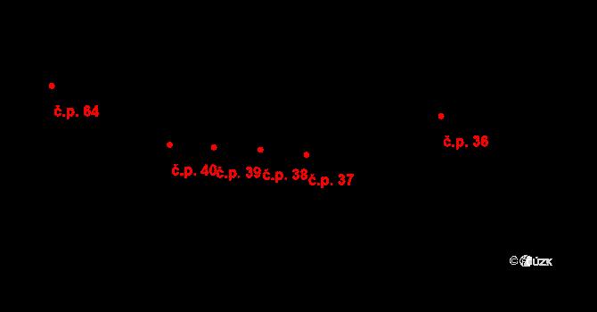 Nové Sedlo 37 na parcele st. 22/2 v KÚ Nové Sedlo u Žatce, Katastrální mapa