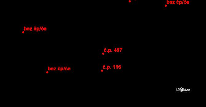 Litice 497, Plzeň na parcele st. 247/3 v KÚ Litice u Plzně, Katastrální mapa