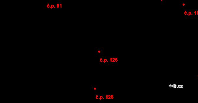 Žďár 125 na parcele st. 143 v KÚ Žďár u Blanska, Katastrální mapa