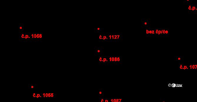 Nivnice 1086 na parcele st. 1981/88 v KÚ Nivnice, Katastrální mapa