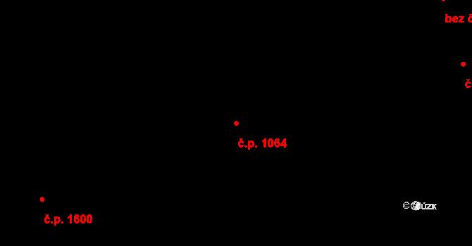 Holešovice 1064, Praha na parcele st. 644/2 v KÚ Holešovice, Katastrální mapa