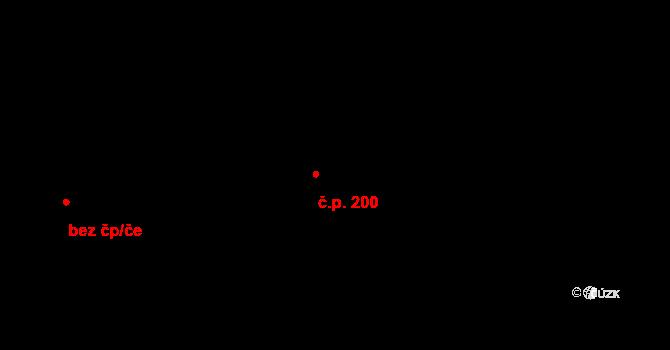 Dolní Pěna 200 na parcele st. 87/1 v KÚ Dolní Pěna, Katastrální mapa