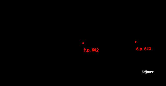 Mladcová 562, Zlín na parcele st. 993 v KÚ Mladcová, Katastrální mapa