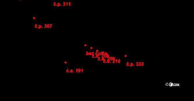 Žirovnice 209 na parcele st. 963 v KÚ Žirovnice, Katastrální mapa