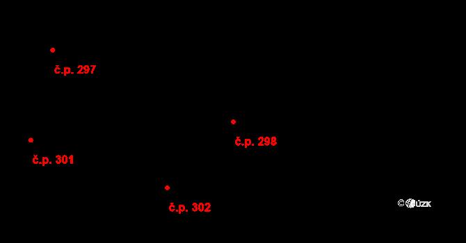 Vamberk 298 na parcele st. 373 v KÚ Vamberk, Katastrální mapa